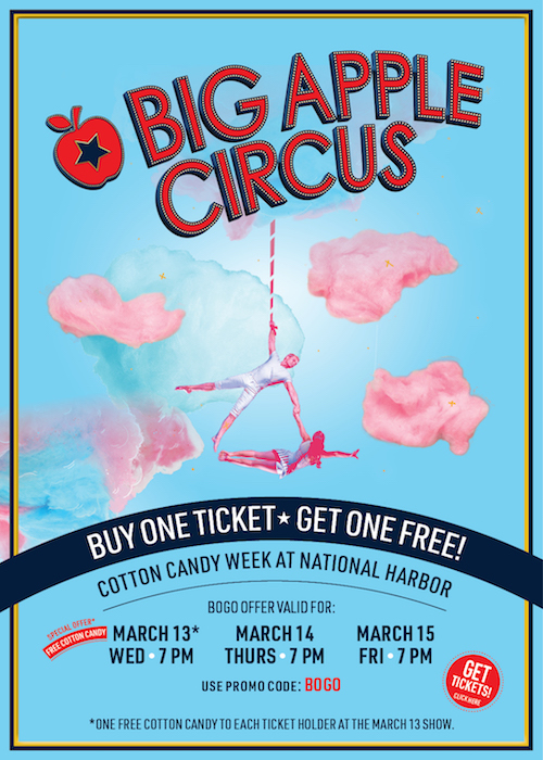 Free Cotton Candy + BOGO Tickets at the Big Apple Circus